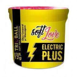 Soft ball triball Eletric Plus - Vibração Intensa c/ 3 unidades - Soft Love