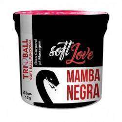 Soft ball triball Mamba Negra - Super Excitante c/ 3 unidades - Soft Love