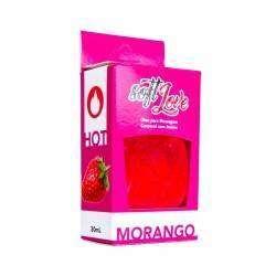 Gel beijável função Hot 30ml - Soft Love - Morango