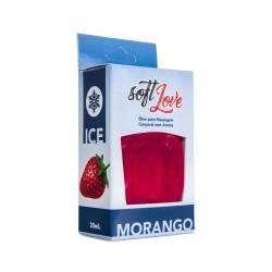 Gel beijável função Ice 30ml - Soft Love - Morango