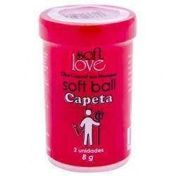 Soft Ball Beijável Hot com 2 unidades - Soft Love - CAPETA