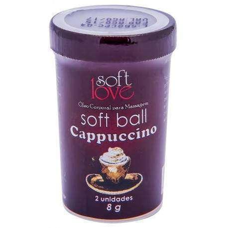 Soft Ball Beijável Hot com 2 unidades - Soft Love - CAPUCCINO