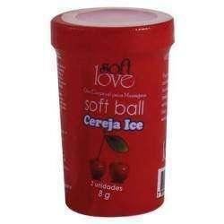 Soft Ball Beijável Ice com 2 unidades - Soft Love - CEREJA ICE