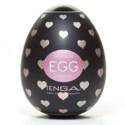 Tenga Egg Lovers (Ovo masturbador com textura corações)